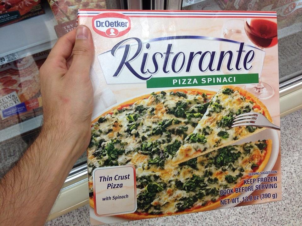 Dr. Oetker Pizza, hergestellt in den USA