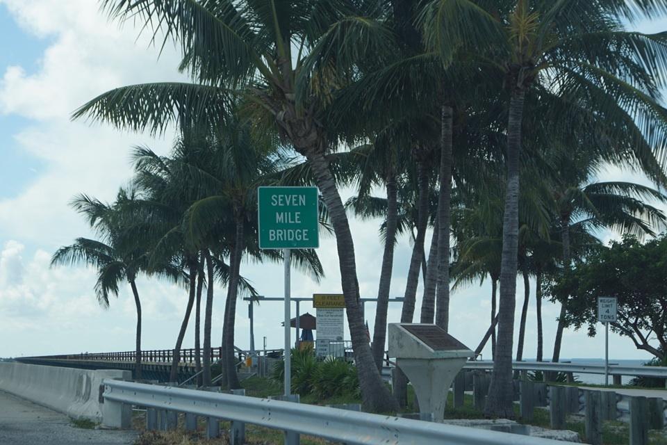 Jetzt gehts auf die weltbekannte 7 Mile Bridge