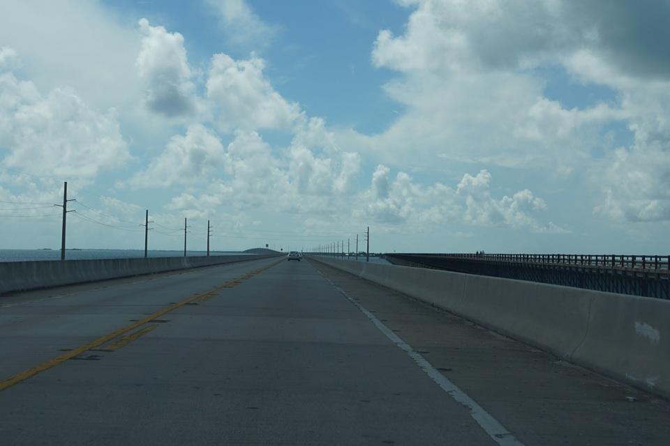 Auf der 7 Mile Bridge