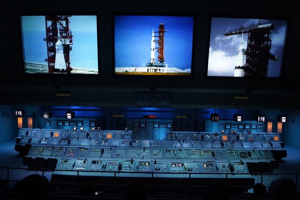 Die Original Terminals der Apollo Mondmissionen (während einer Show)