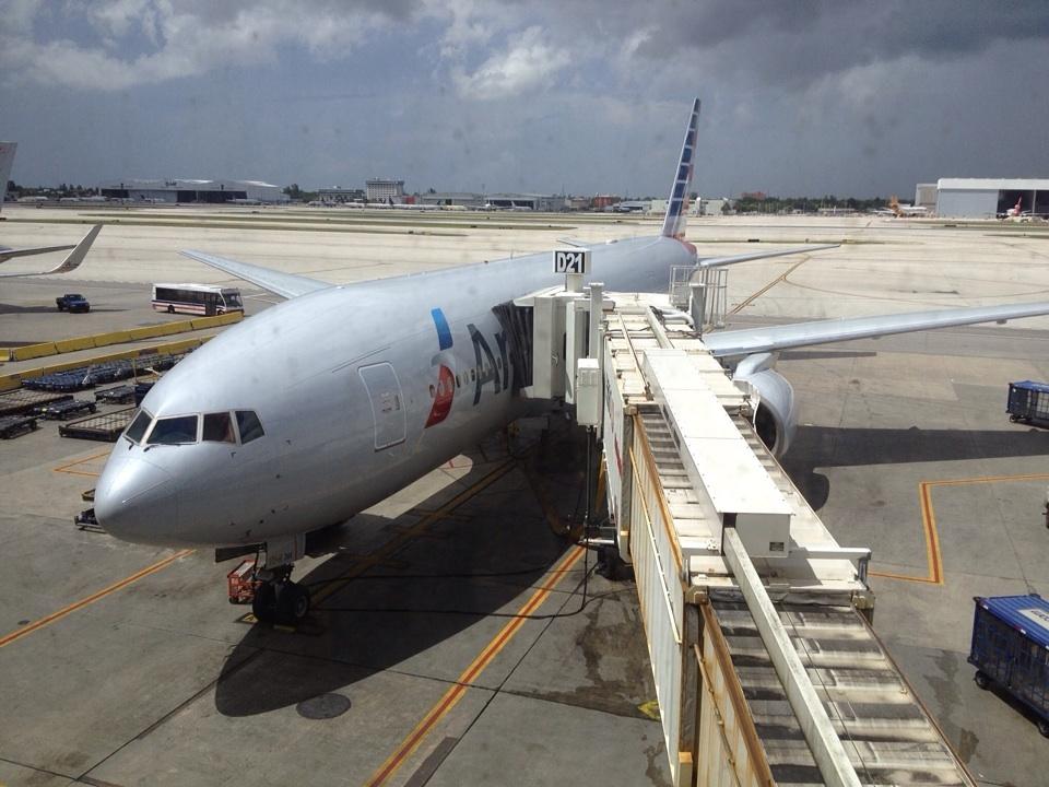 Unser Flieger in Miami gelandet