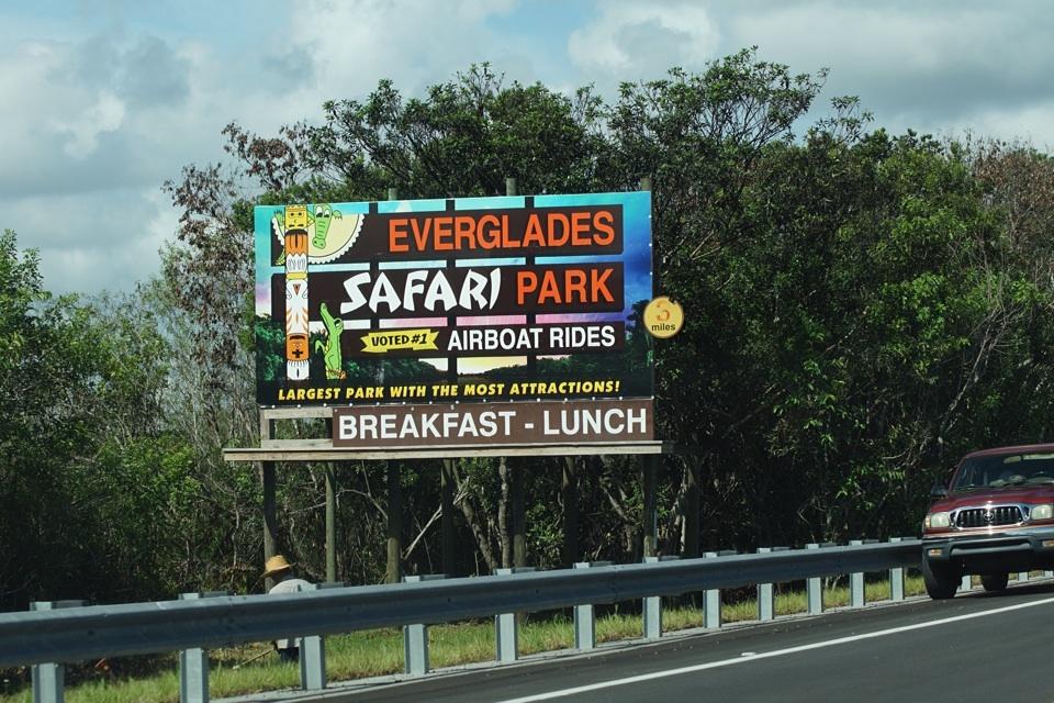 """Schild zu """"unserem"""" Park in den Everglades"""