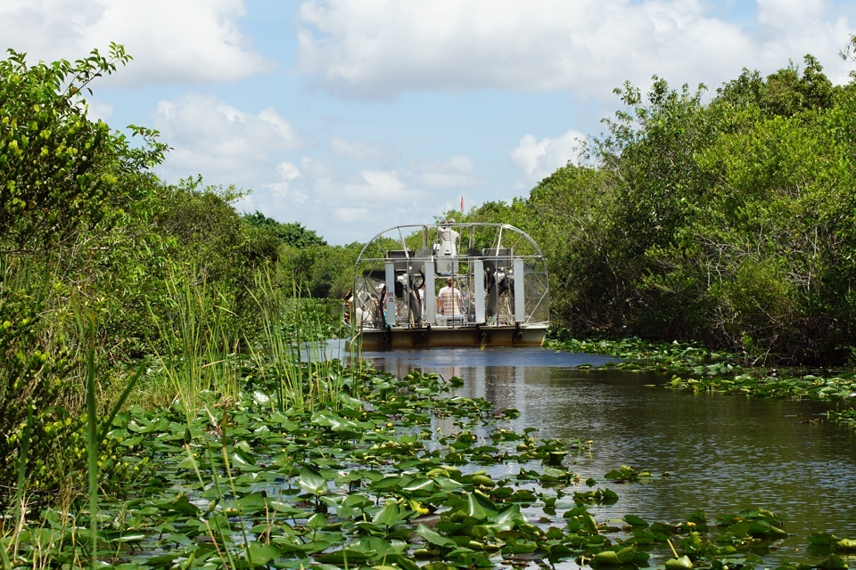 aAirboat in den Everglades