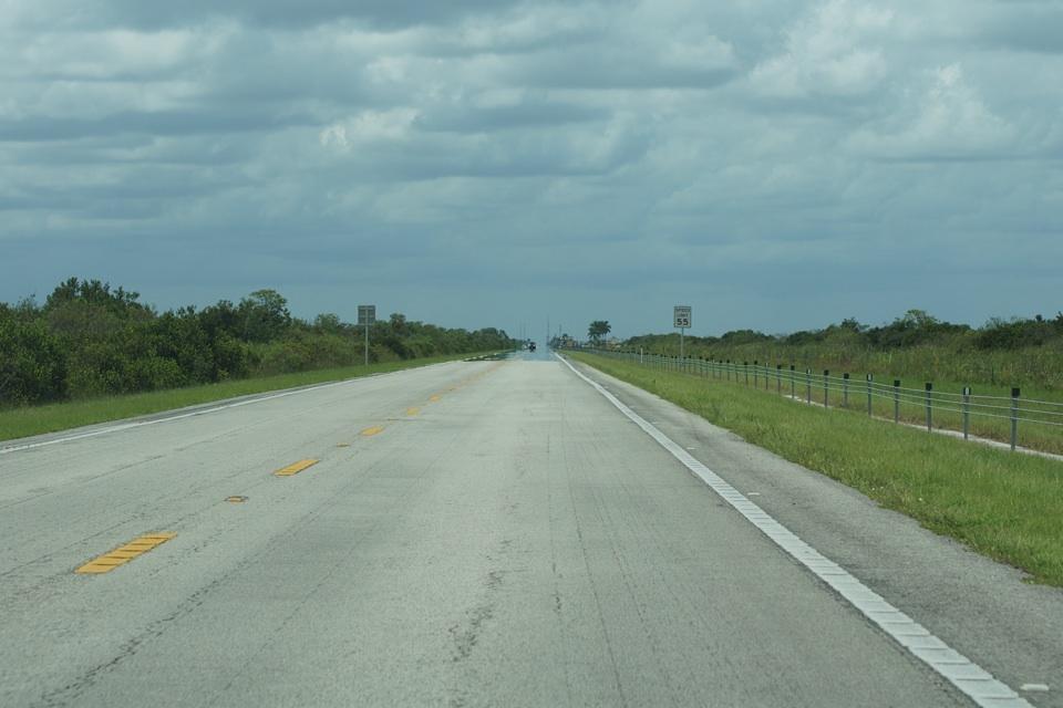 Straße in die Everglades