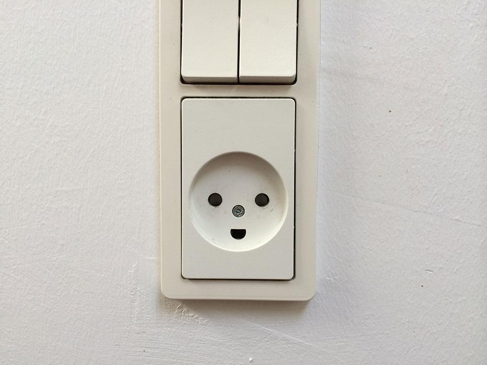 Ich finde die Steckdosen haben ein Smily Gesicht :D
