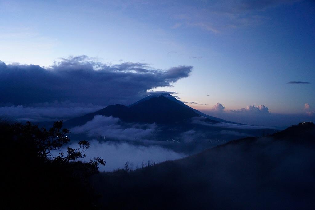 Der höchste Vulkan Balis: der Agung (3242m)