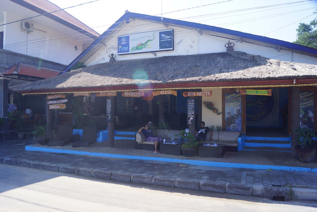 "Unsere Tauchbasis ""Gecko Dive"" in Padangbai"
