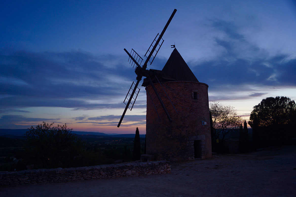 Mühle in der Abenddämmerung