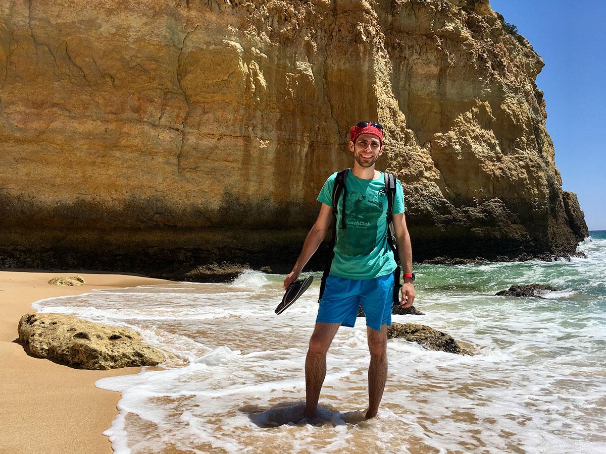 Am einsamen Strand