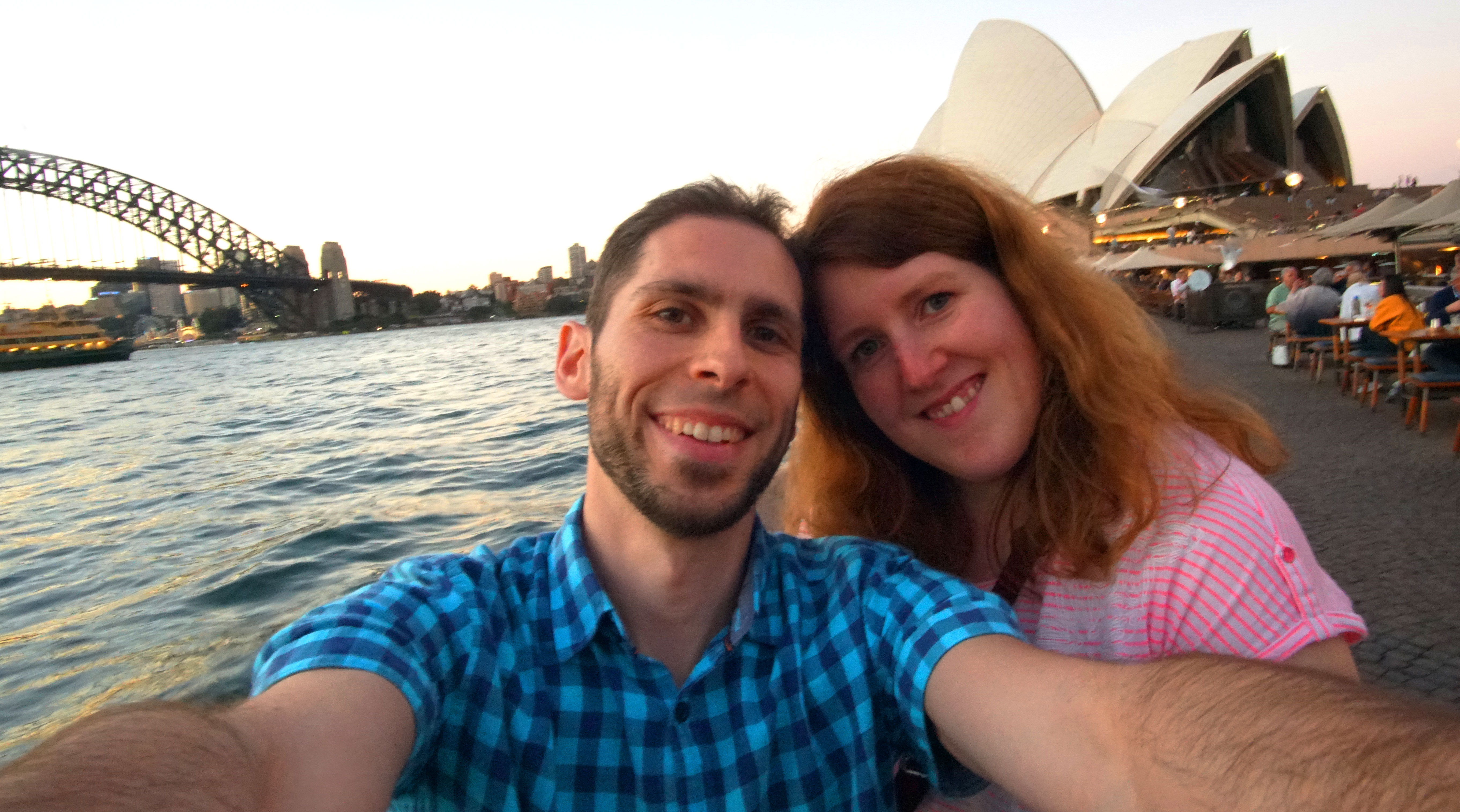 Nina & ich am Sydney Opera House